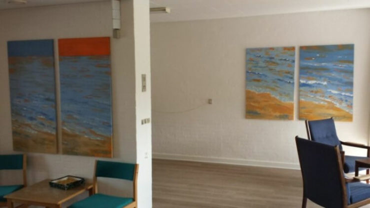 Solgt malerier til kursusejd Saxild Strand - Lars Stounberg - moderne naturalist