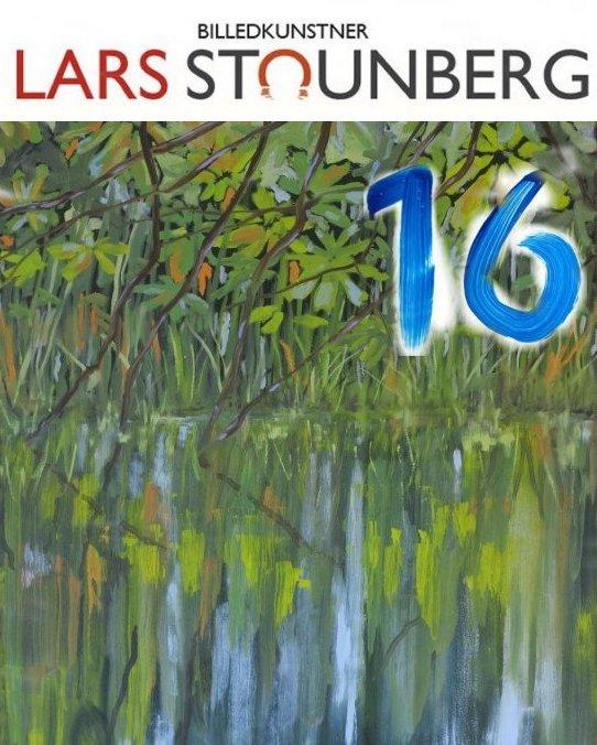 Julekalender 16. decmeber 2019 Maleri – Vandspejling sø - 80x100 malet 2015 af billedkunst Lars Stounberg