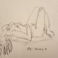 Croquis - liggende kvinde - billedkunstner Lars Stounberg 2018