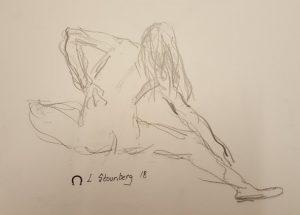 Crouquis - kvinde gymnastik - billedkunstner Lars Stounberg 2018