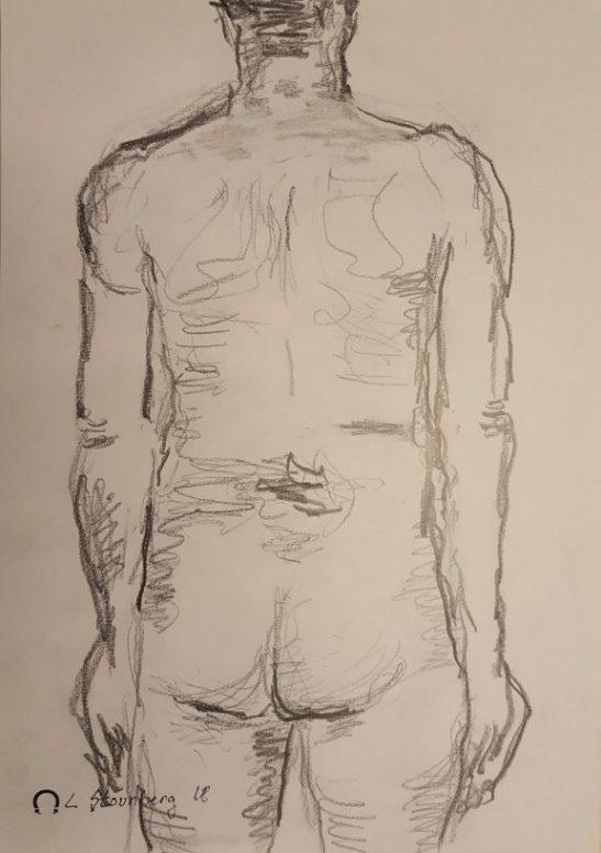 Croquis - stående mand - Billedkunstner Lars Stounberg 2018