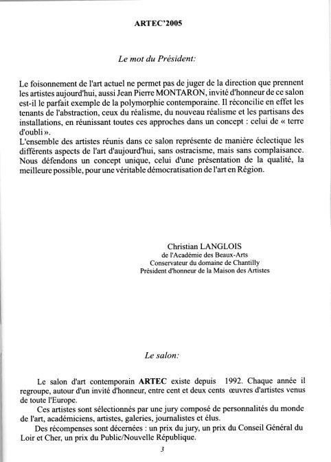 Katalog 2005 fra den censurede udstilling  Katalog fra ARTEC 2005 Salon Européen D'Art Contemporain, Frankrig