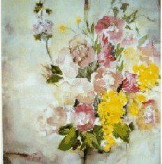 Kunstplakat akvarel buket 1996 af Billedkunstner Odder Lars Stounberg