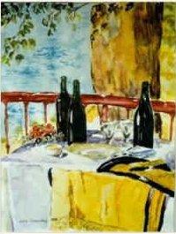 Sjal Akvarel Lars Stounberg 1999
