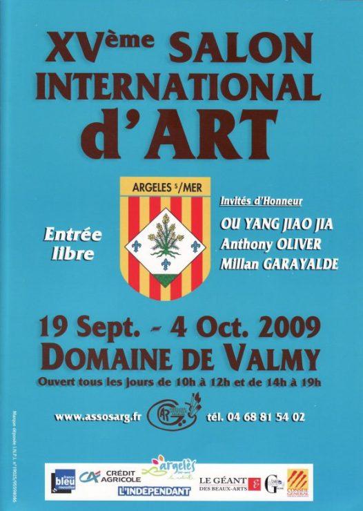 Katalog forside 2009 fra den censurede udstilling  15eme Salon International d'Arts d'Argeles-sur-Mer, Frankrig