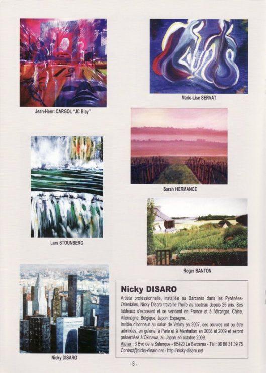 Katalog 2009 fra den censurede udstilling  15eme Salon International d'Arts d'Argeles-sur-Mer, Frankrig