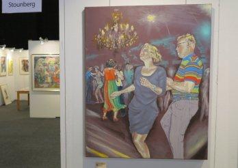 Udsnit af Lars Stounbergs stand på Hillerød Kunstdage 2015