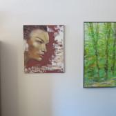 portræt maleri på væggen Lars Stounberg