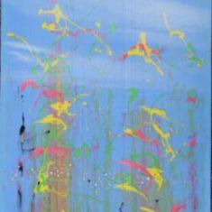 Titel: In the Blue acryl 100x80 cm 2007 - Billedkunstner Odder Lars Stounberg