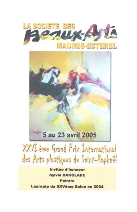 Katalog fra den censurerede udstilling XXVIeme Grand Prix International des Arts plastiques de Saint-Raphael, 2005, Sydfrankrig