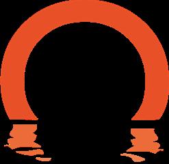 Stempel for Lars Stounberg - logo af solopgang
