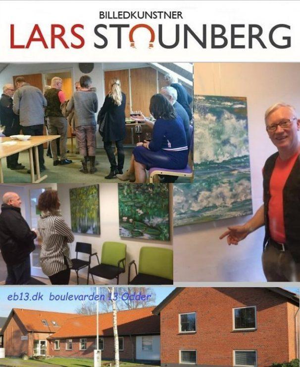 Maleri-udstilling Erhvervshuset Bulevarden Odder 2017 - Billedkunstner Lars Stounberg
