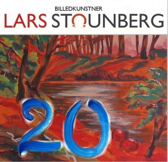 Julekalender kunst, malerier og croquis-tegninger - maleri aftenstemning - Lars Stounberg