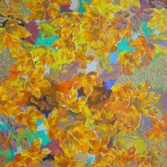 Titel: Ahorn acryl 60x80 cm 2005 - Billedkunstner Odder Lars Stounberg