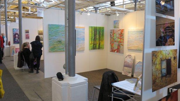 Art Nordic 2015 - København - Et kig ud over Lars Stounbergs stand