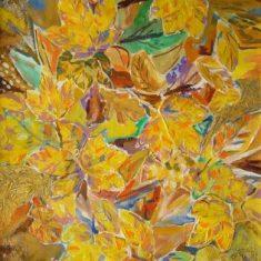 Titel: Efterår 1 acryl 60x50 cm 2004 - Billedkunstner Odder Lars Stounberg