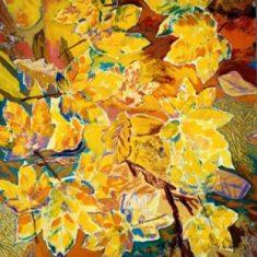 Titel: Efterår 2 acryl 50x60 cm 2004 - Billedkunstner Odder Lars Stounberg