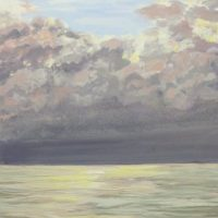 Havmaleri - Morgen Ballehage strand - Billedkunstner Odder Lars Stounberg