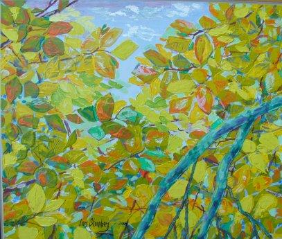 Maleri - Boeg foraar - Billedkunstner Odder Lars Stounberg 2004