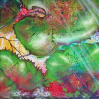 Store blade fra regnskoven natur maleri Billedkunstner Odder Lars Stounberg 2013