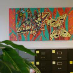 Storformat maleri 100x200 cm solgt til Rådgivende ingeniørerHacafrø A/S, Herlev - Billedkunstner Odder Lars Stounberg