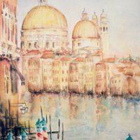 Akvarel - Canal Grande - Billedkunstner Odder Lars Stounberg 2003
