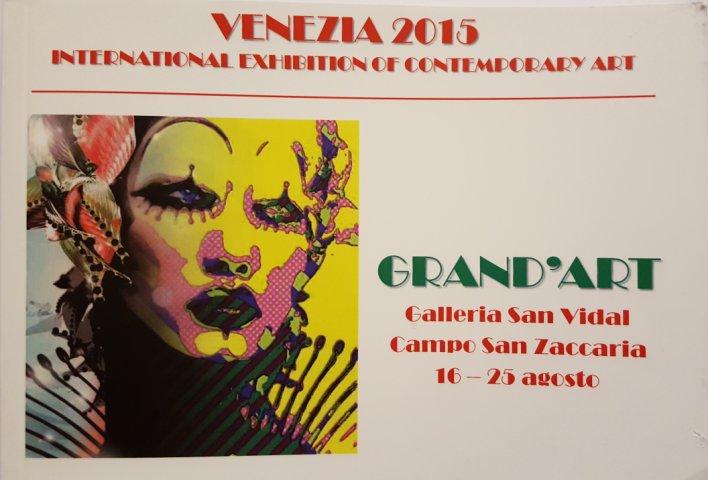 Kataloget for udstillingen Grand'Art Venezia 2015 - forside - Lars Stounberg med på udstillingen