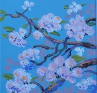 Maleri - Japanske kirsebaer 2010 - Billedkunstner Odder Lars Stounberg