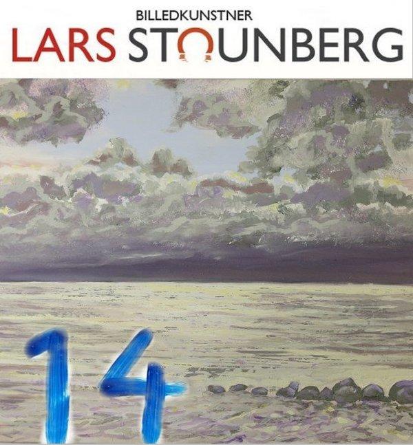Maleri gråvejrsmorgen - Julekalender 2019 med kunst, malerier og croquis-tegninger - Lars Stounberg