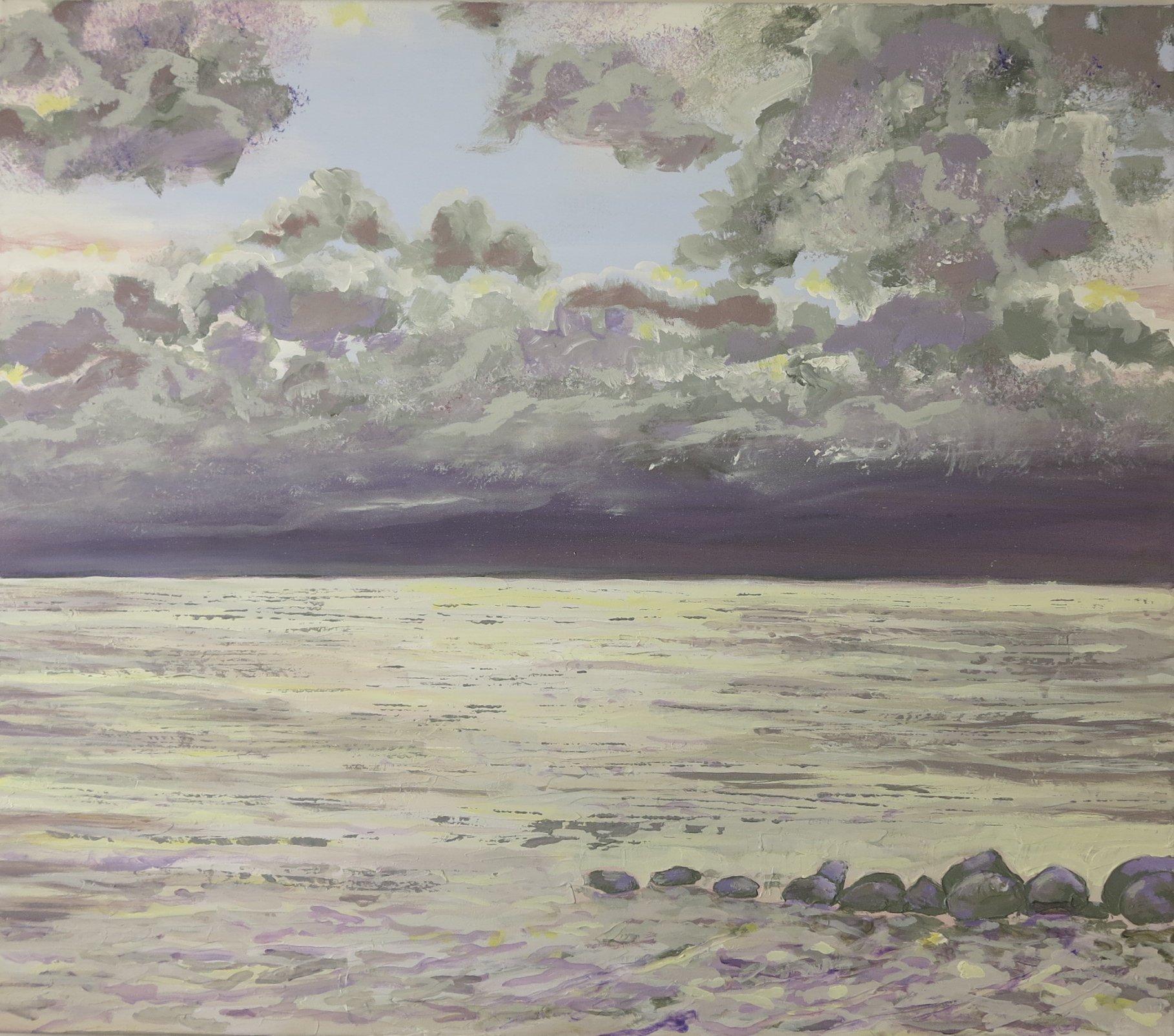 Havmaleri - Morgen Ballehage Aarhus 2015 - Kunstner Odder Lars Stounberg - moderne naturalist