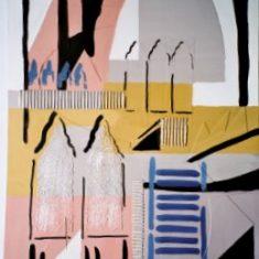 Titel: Collage-venice acryl 60x80 cm 2001 - Billedkunstner Odder Lars Stounberg