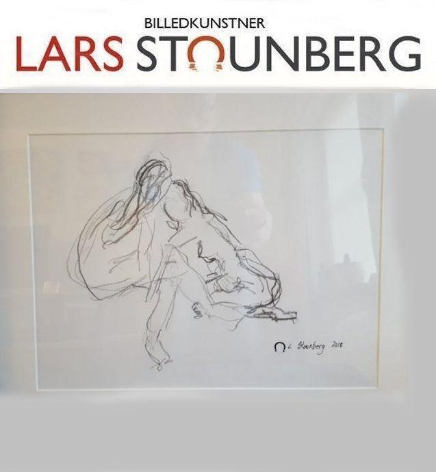 croquis-tegning 2 kvinder tegnet af Lars Stounberg 2018
