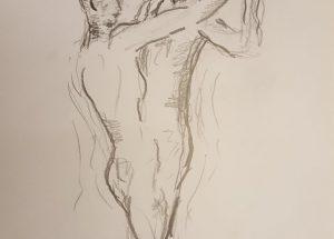 Croquis - mand og kvinde dansepar - 2018 billedkunstner Lars Stounberg