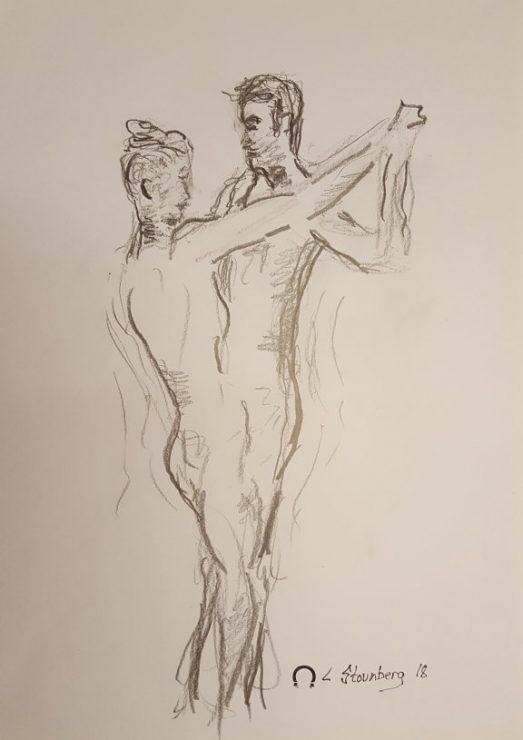 Croquis - dansepar - 2018 billedkunstner Lars Stounberg