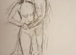 Croquis dans mand og kvinde 2018 billedkunstner Lars Stounberg