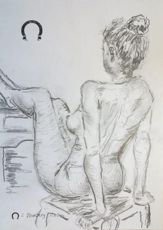 Croquis kvinde med benene op 2020 Lars Stounberg