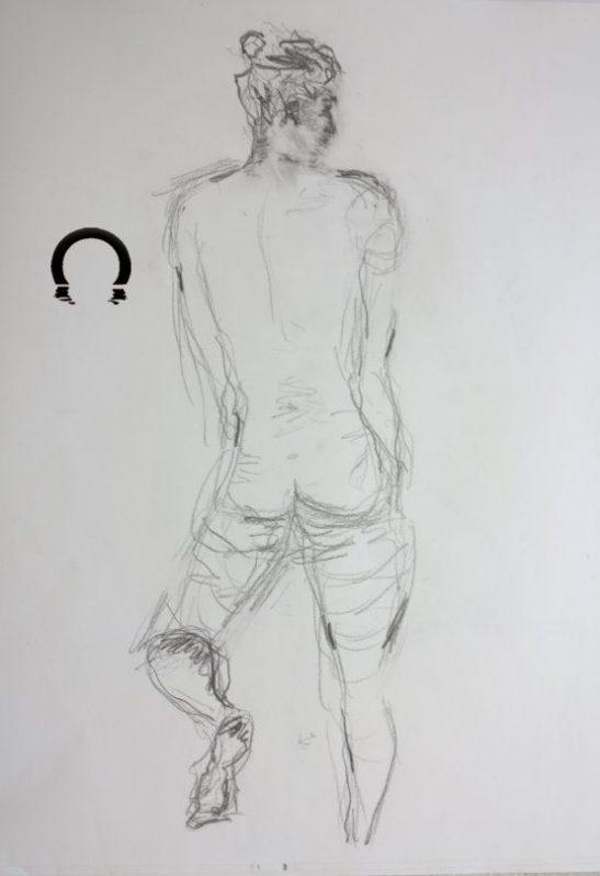 Croquis-tegninger Kvinde stående 2017 - Billedkunstner Odder Lars Stounberg