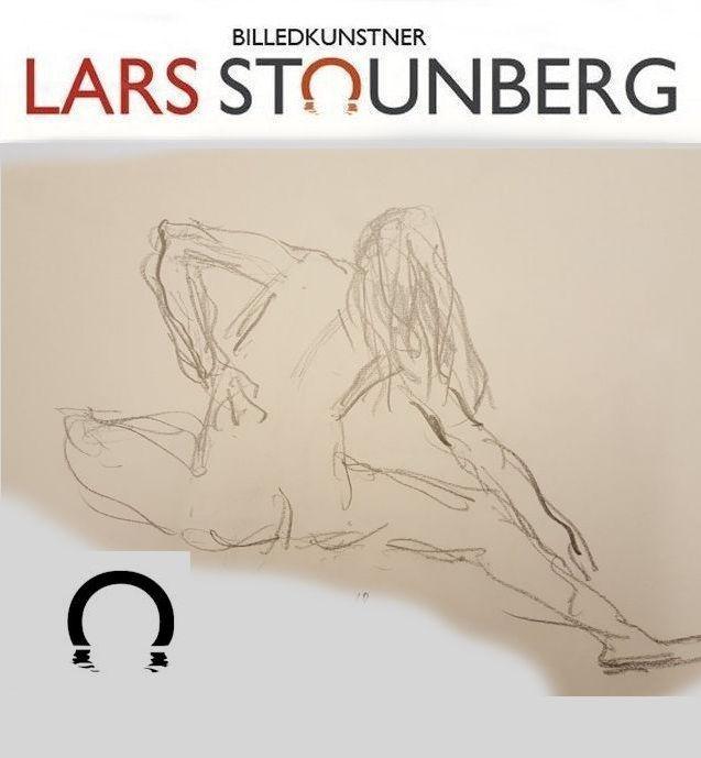 Julekalender 2019 - tegning kvinde strækøvelser - Lars Stounberg