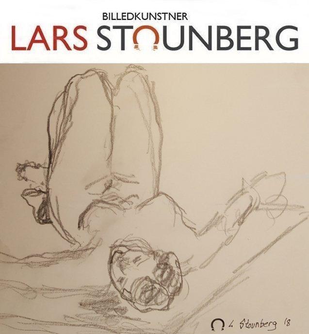 Croquistegning liggende kvinde 2018 af billedkunstner Lars Stounberg