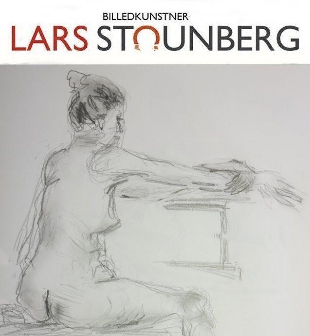 Croquis-tegninger siddende kvinde - juli 2017 billedkunstner Lars Stounberg