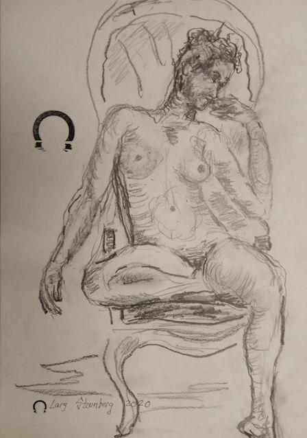 croquis-tegning-Kvinde-i-solstol-2020-lars-stounberg