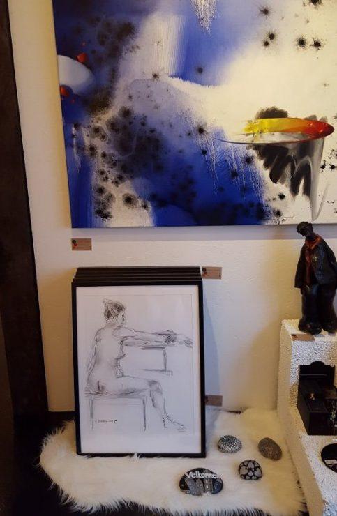 Udstilling af croquis-tegninger hos YouCreate Company Odder 2017 - Lars Stounberg