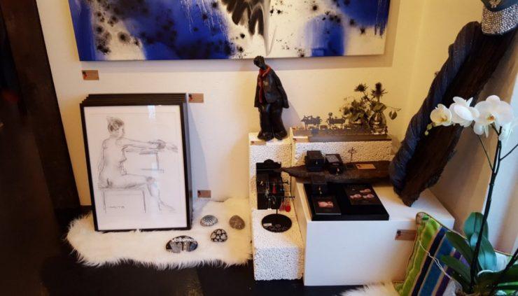 Udstilling Croquis-tegninger af Lars Stounberg 2017 hos YouCreate