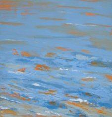 Titel: Mørk himmel Saxild acryl 120 x 60 cm 2006 - Billedkunstner Odder Lars Stounberg