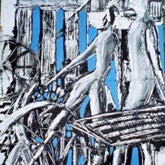 Titel: Developement acryl 60x80 cm 2001 - Billedkunstner Odder Lars Stounberg