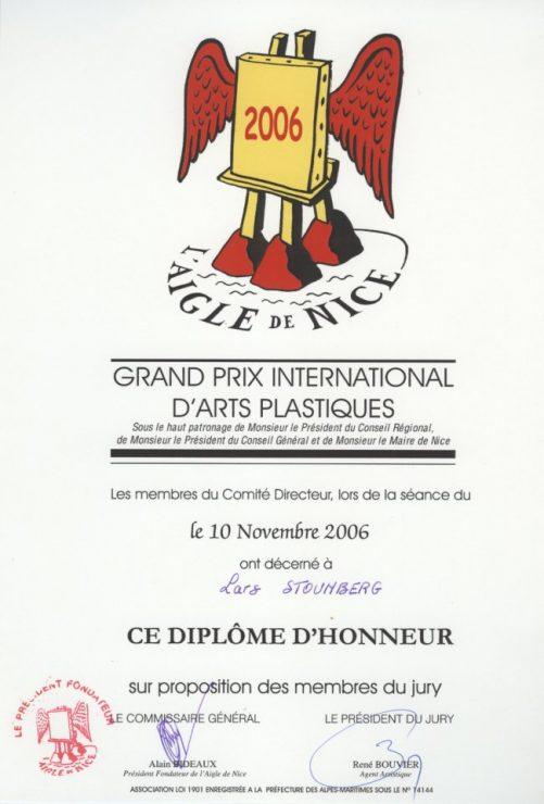 Diplom til Lars Stounberg - Aigle de Nice 2006, Frankrig