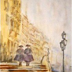 Titel: Dis Venedig akvarel 52 x 40 cm 2000 - Billedkunstner Odder Lars Stounberg