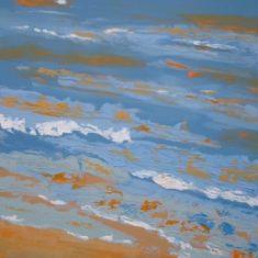 Titel: Mørkt hav Saxild acryl 120 x 80 cm 2006 - Billedkunstner Odder Lars Stounberg