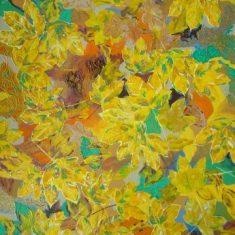 Moderne farverig maleri 60 x 80 cm solgt til KMD, Ballerup - Billedkunstner Odder Lars Stounberg