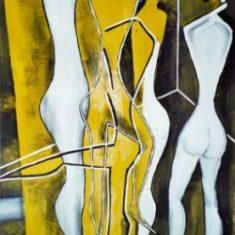 Titel: Exercise Acryl 60x80 cm 2001 - Billedkunstner Odder Lars Stounberg